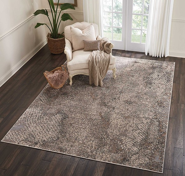Grey Abstract Area Rug