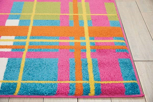PinK Contemporary / Modern Area Rug