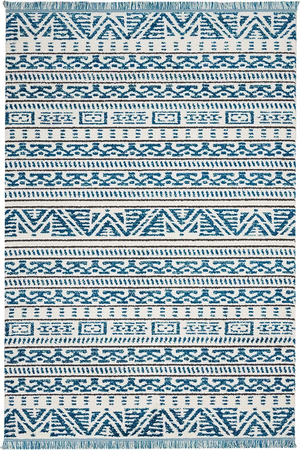 Ivory, Blue Southwestern / Lodge Area Rug