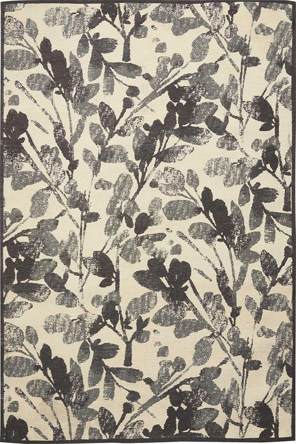 Gray (WJC-02) Floral / Botanical Area Rug
