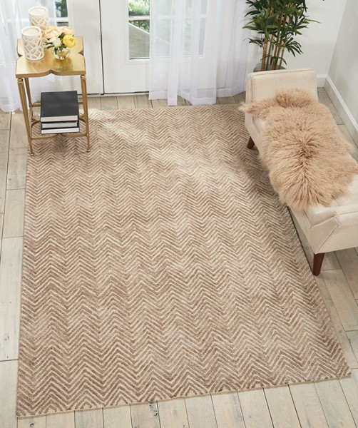 Taupe Chevron Area Rug