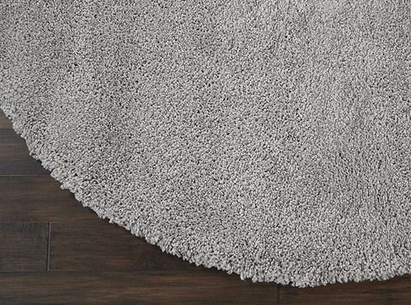 Silver Grey Shag Area Rug