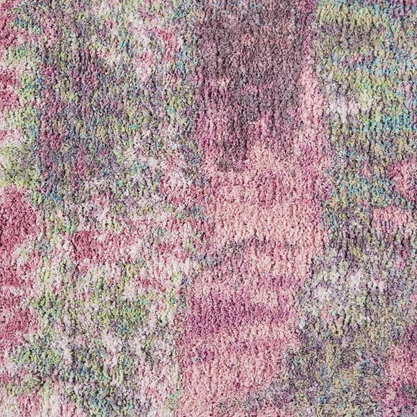 Pink Abstract Area Rug