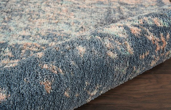 Slate Blue Abstract Area Rug