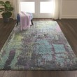 Product Image of Teal Abstract Area Rug