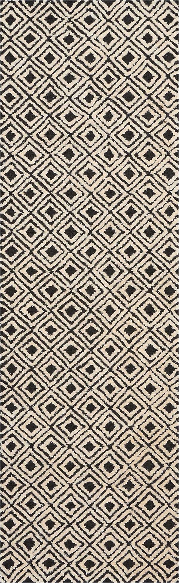 Black, Beige Geometric Area Rug