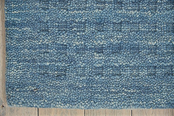 Denim Textured Solid Area Rug