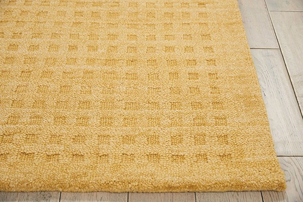 Gold Textured Solid Area Rug