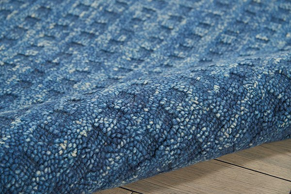 Navy Textured Solid Area Rug