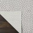 Product Image of Cream, White Geometric Area Rug