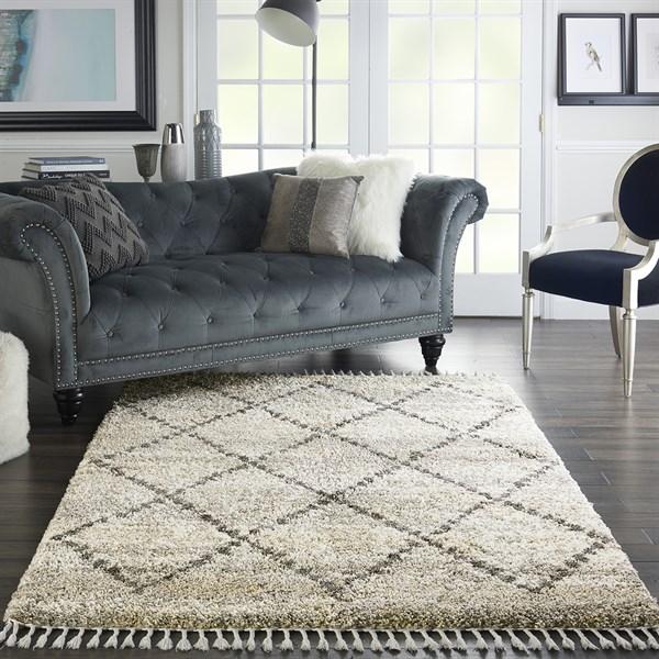 Silver, Grey Bohemian Area Rug