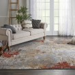Product Image of Silver, Grey, Yellow Contemporary / Modern Area Rug