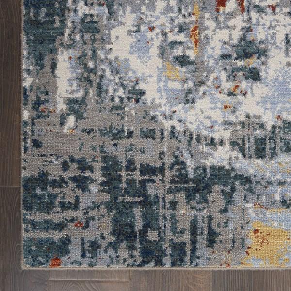 Slate, Brick Contemporary / Modern Area Rug