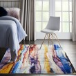 Product Image of Orange, Blue, Purple Contemporary / Modern Area Rug