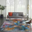 Product Image of Orange, Blue, Red Contemporary / Modern Area Rug
