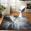 Product Image of Grey, Blue, Ivory Contemporary / Modern Area Rug
