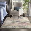 Product Image of Cream, Pink, Green Abstract Area Rug