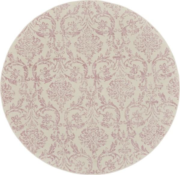 Ivory, Pink Vintage / Overdyed Area Rug