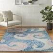 Product Image of Blue Paisley Area Rug