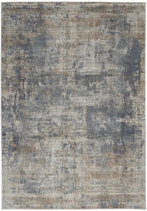Beige, Slate Contemporary / Modern Area Rug