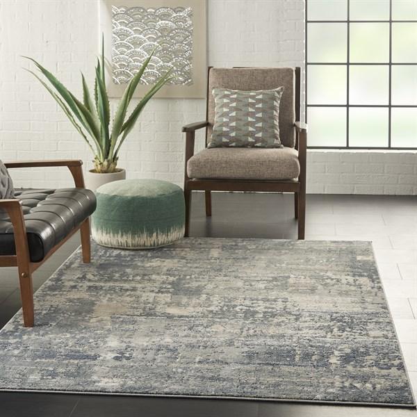 Grey, Beige Contemporary / Modern Area Rug