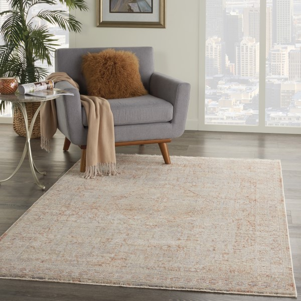 Grey, Brick Transitional Area Rug