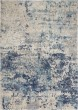 Product Image of Contemporary / Modern Ivory, Dark Blue Area Rug