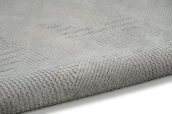 Grey, Light Blue Contemporary / Modern Area Rug