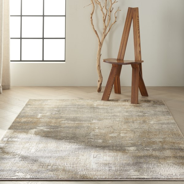 Grey, Beige Contemporary / Modern Area Rug