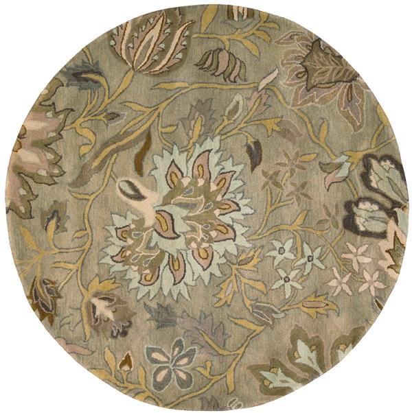 Silver Floral / Botanical Area Rug