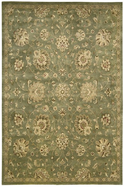 Green Traditional / Oriental Area Rug