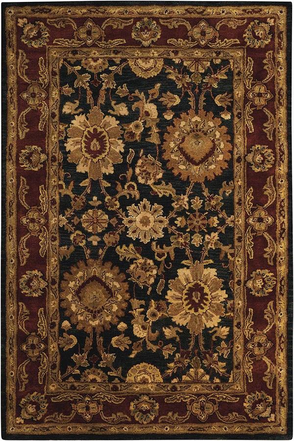 Black Traditional / Oriental Area Rug