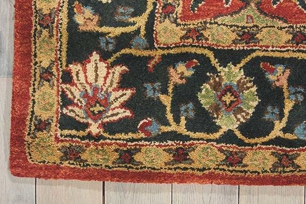 Brick Traditional / Oriental Area Rug