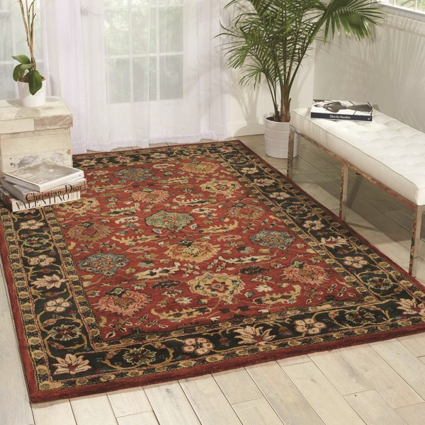 Brick Traditional / Oriental Area Rug
