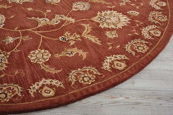 Rust Traditional / Oriental Area Rug