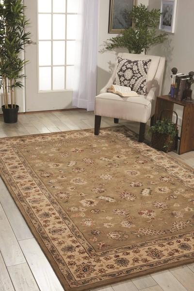 Olive Traditional / Oriental Area Rug