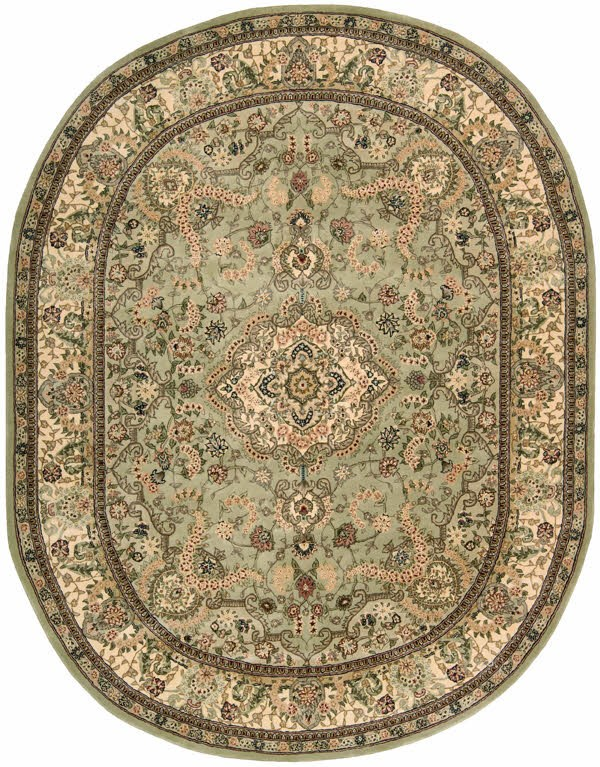 Light Green Traditional / Oriental Area Rug