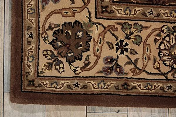 Mushroom Traditional / Oriental Area Rug
