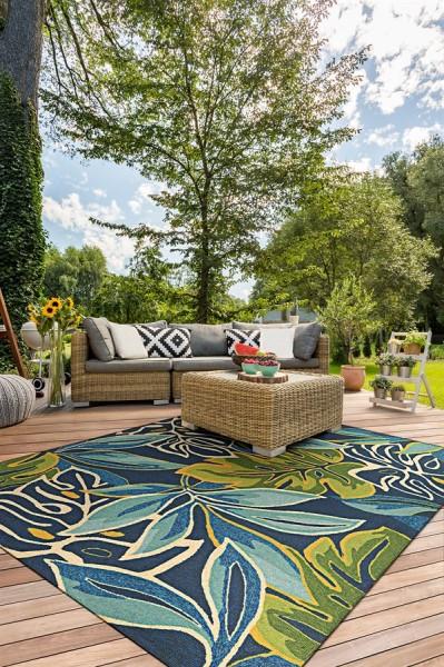 Azure, Forest Green (4361-0671) Outdoor / Indoor Area Rug