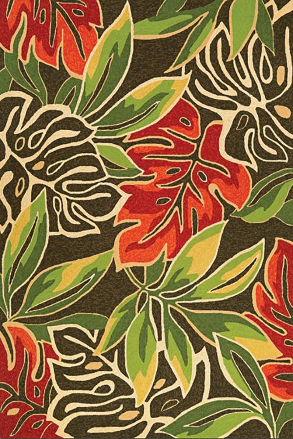 Brown, Forest Green (4361-0366) Outdoor / Indoor Area Rug