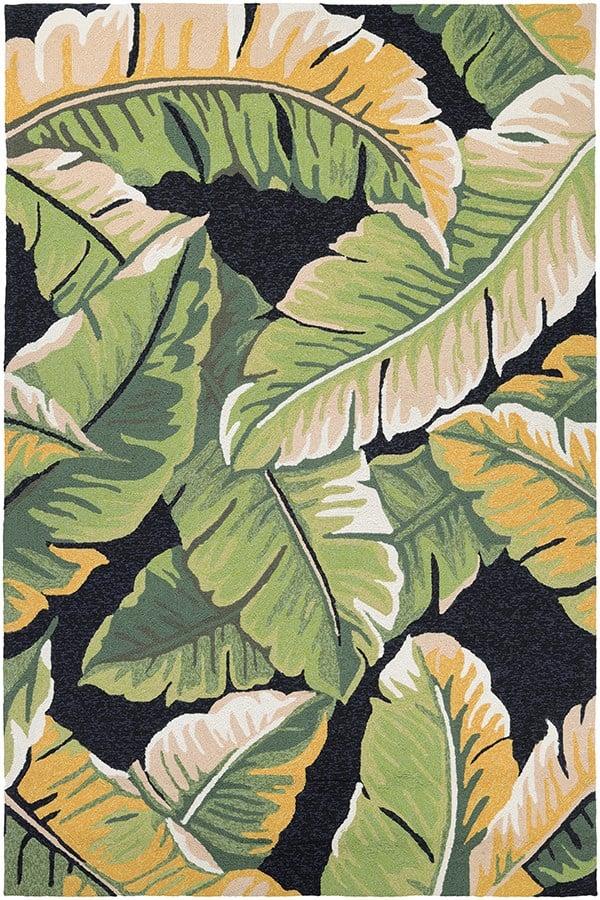 Forest Green, Black (4972-4000) Outdoor / Indoor Area Rug