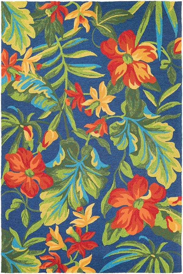 Azure, Forest Green, Red (4886-4285) Outdoor / Indoor Area Rug