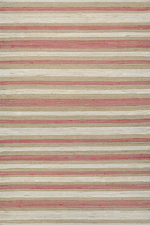Red, White (7294-3125) Rustic / Farmhouse Area Rug