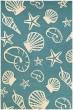 Product Image of Beach / Nautical Turquoise, Ivory (7334-0220) Area Rug
