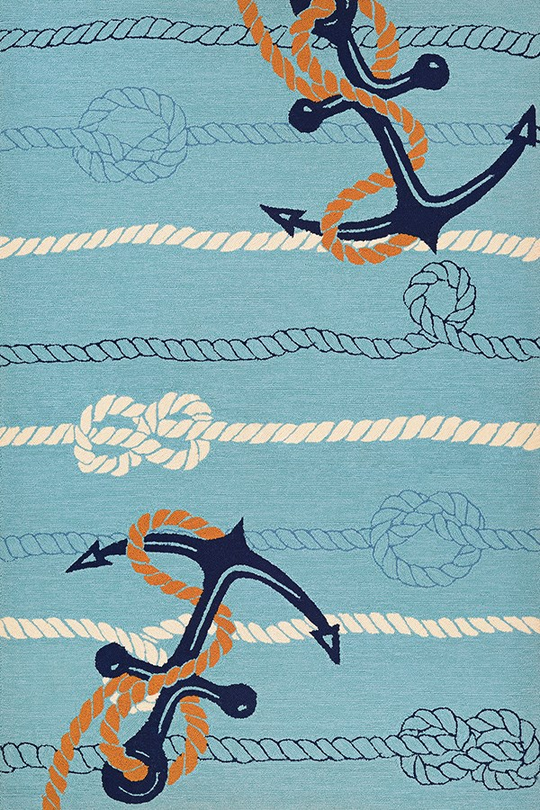 Ocean Blue (4295-4179) Beach / Nautical Area Rug