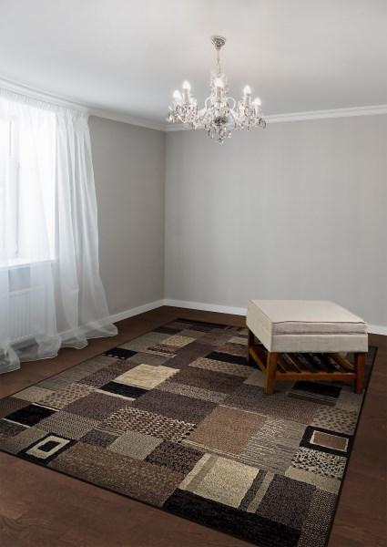 Ivory, Grey (6815-4343) Contemporary / Modern Area Rug