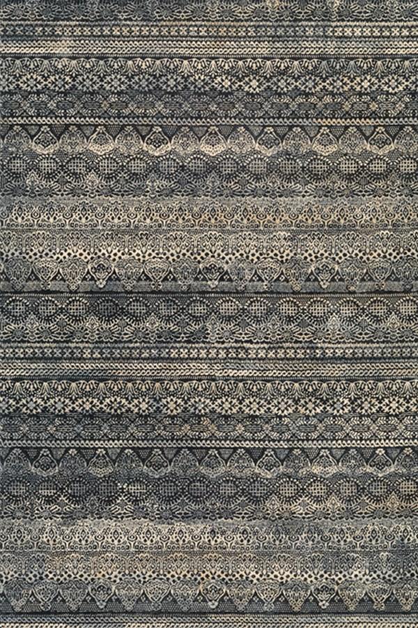 Black, Grey (6822-3353) Bohemian Area Rug