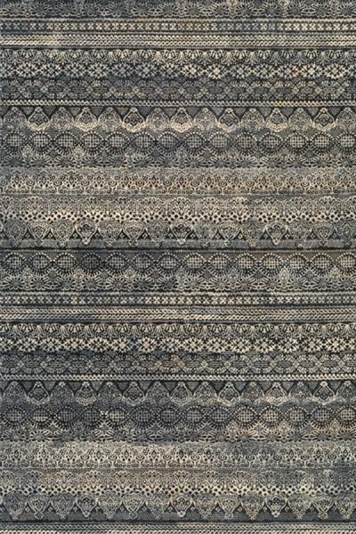 Black, Grey (6822-3353) Renewed Traditional Area Rug
