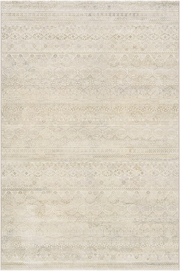 Ivory, Light Grey (6822-6575) Bohemian Area Rug