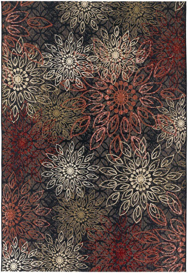 Miso Red, Bone, Gold (4039-0760) Mandala Area Rug